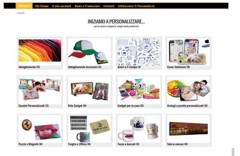 Ti Personalizzo – Sito E-Commerce
