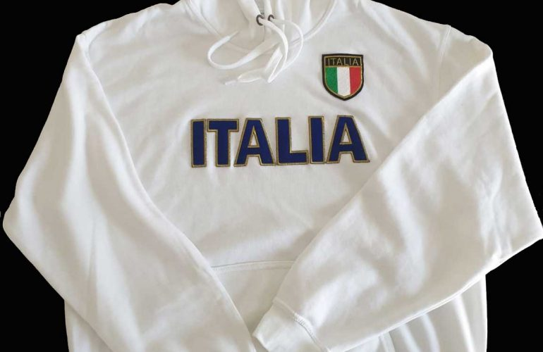 Felpa Ricamo Italia